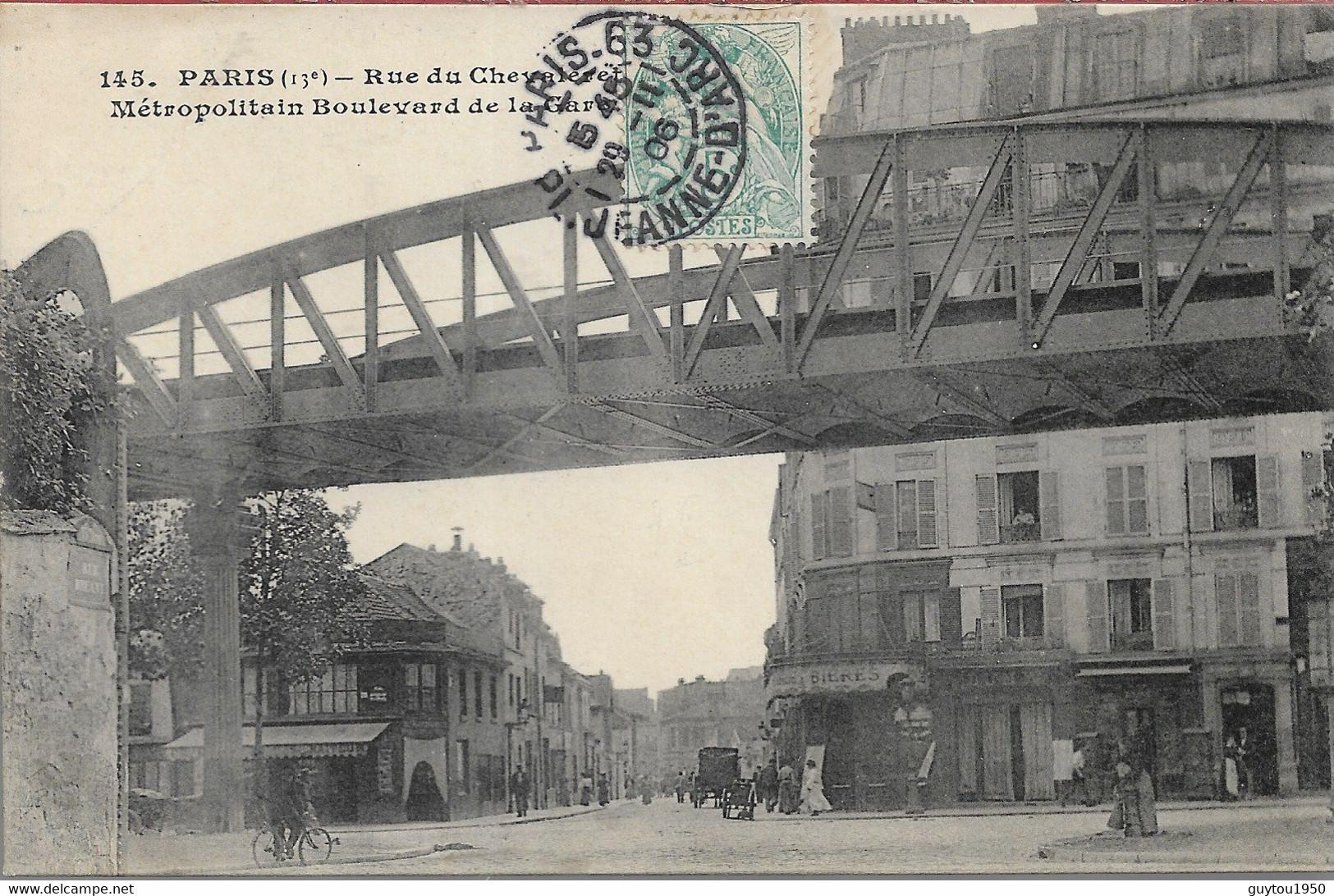Paris  Rue Du Chevrier Métropolitain Boulevard De La Gare - Arrondissement: 13