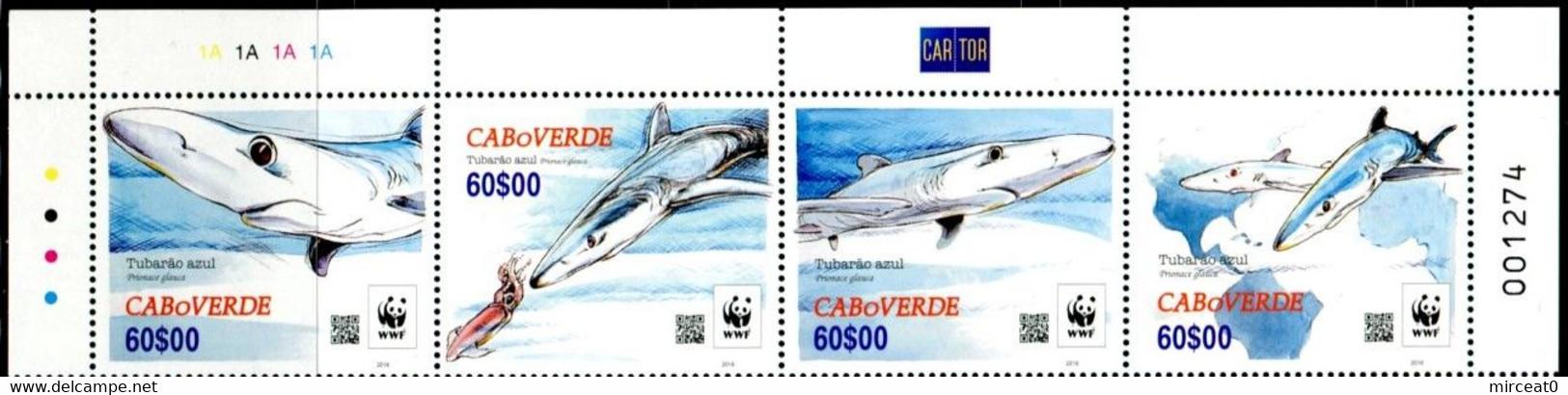 "CAP VERT / CABO VERDE 2016 MNH - "" FAUNE MARINE REQUINS WWF / SHARKS WWF "" - 4 VAL. - Kap Verde"