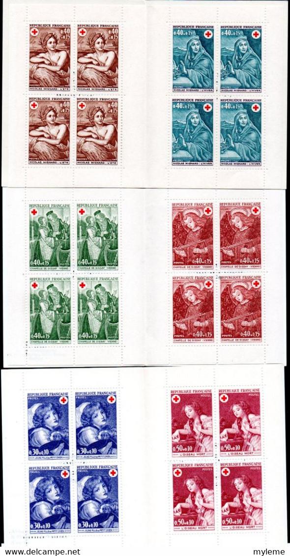 Gx Carton 27 Kgs Dont Carnets Croix Rouge ** (1952 à 1973 - Sauf 1955 - Tous Complet) Et FDC ** ...Voir Commentaires !!! - Lots & Kiloware (mixtures) - Min. 1000 Stamps