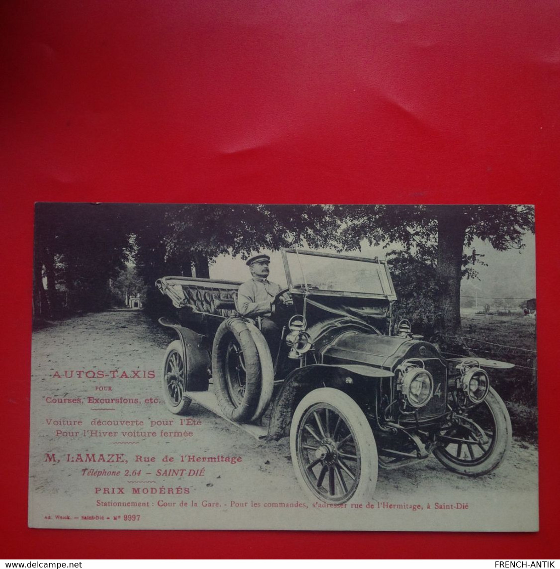 TOP CARTE SAINT DIE AUTOS TAXIS M.LAMAZE AUTOMOBILE - Saint Die