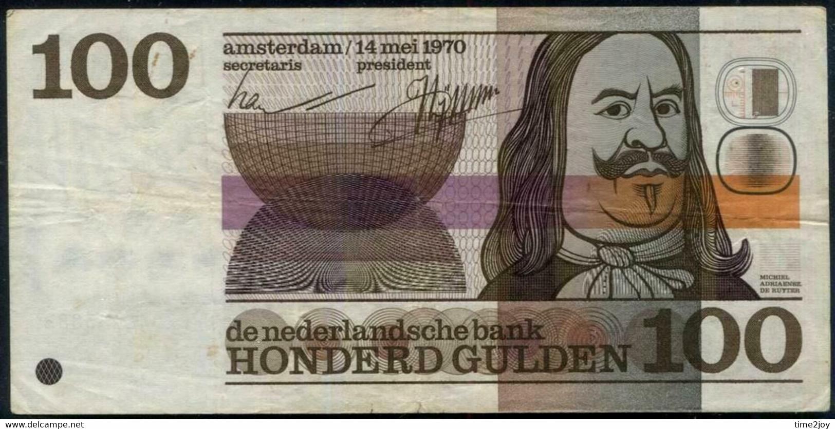 Netherlands 100 Gulden. Neerlandsche Bank Note. Pick #p93. 1970 - Indie Olandesi