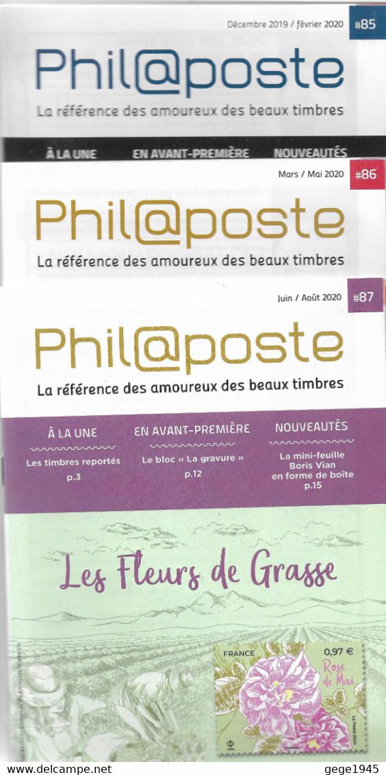 3 Catalogues Philaposte   Années  2019/2020     N° 85 - 86 - 87 - Documents Of Postal Services