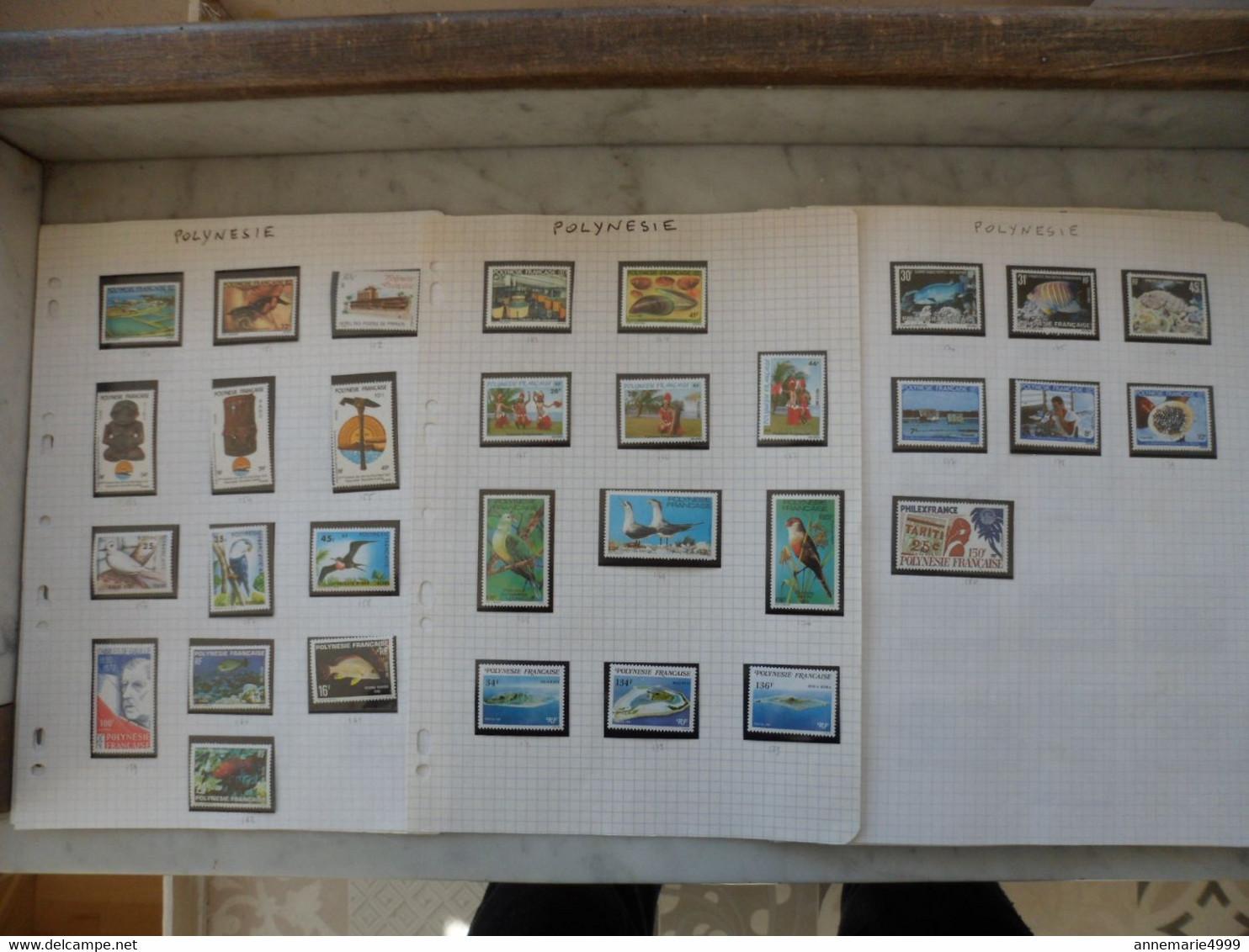 POLYNESIE  Poste 1978 à 1994 Dont 3 Bonnes Valeurs Neufs Sans Charnière MNH Voir Commentaire - Collections, Lots & Series