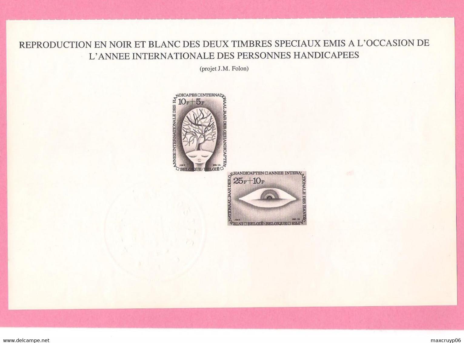 Feuillet Noir Et Blanc De 1981 ( 1999/00 ). - Black-and-white Panes