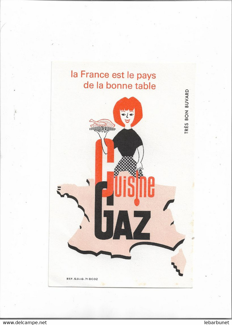 Buvard Ancien Cuisine Gaz  La France Est Le Pays De La Bonne Table - G