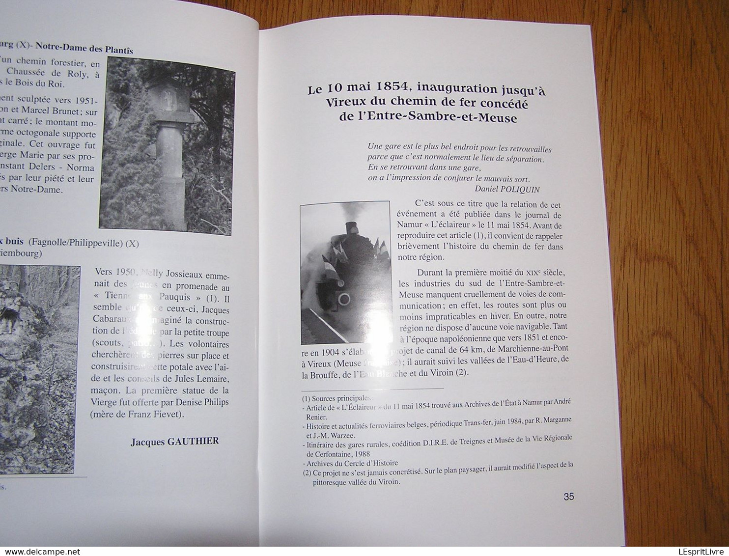 EN FAGNE ET THIERACHE N° 201 Régionalisme Froidchapelle Mariembourg Patrimoine Chapelle Chemin De Fer Vireux Couvin - Belgique