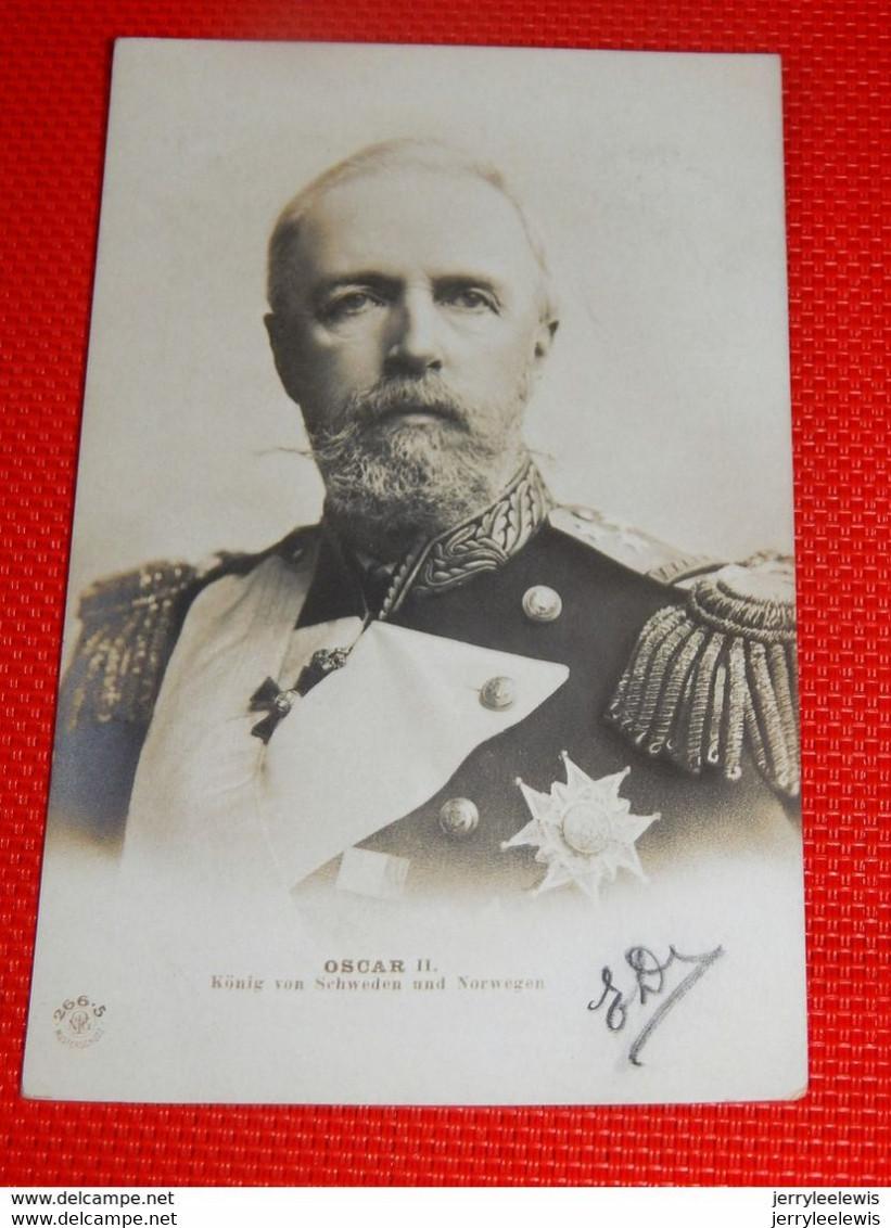 SWEDEN - NORWAY - Roi  OSCAR II  De Suède Et De Norvège   -  Konung OSCAR II - Case Reali