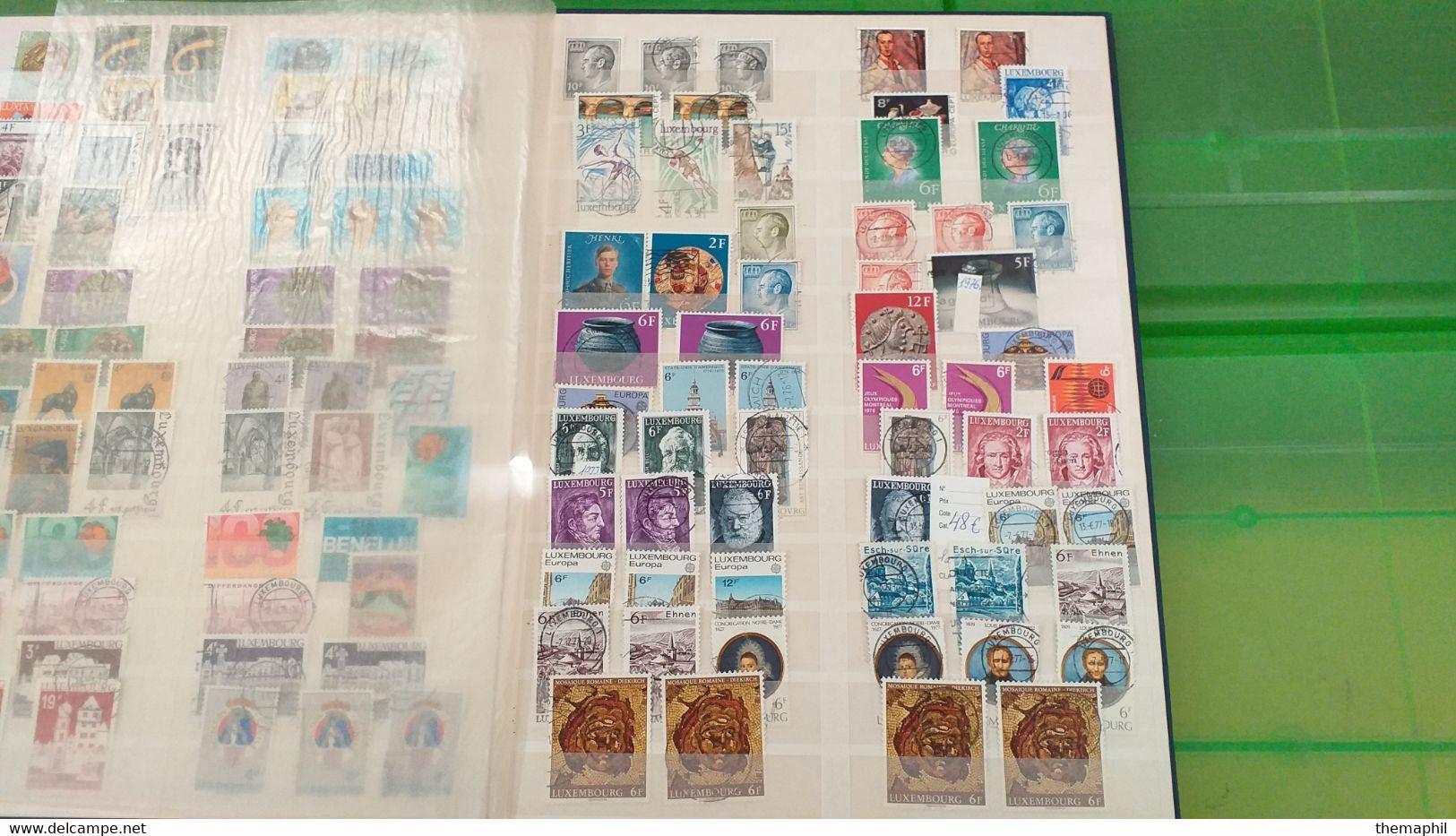 Lot N° TH 615  LIECHENSTEIN Et LUXEMBOURG.. Un Lot De 2 Classeurs Neufs Ou Obl Nombreux Neufs Xx - Collections (with Albums)