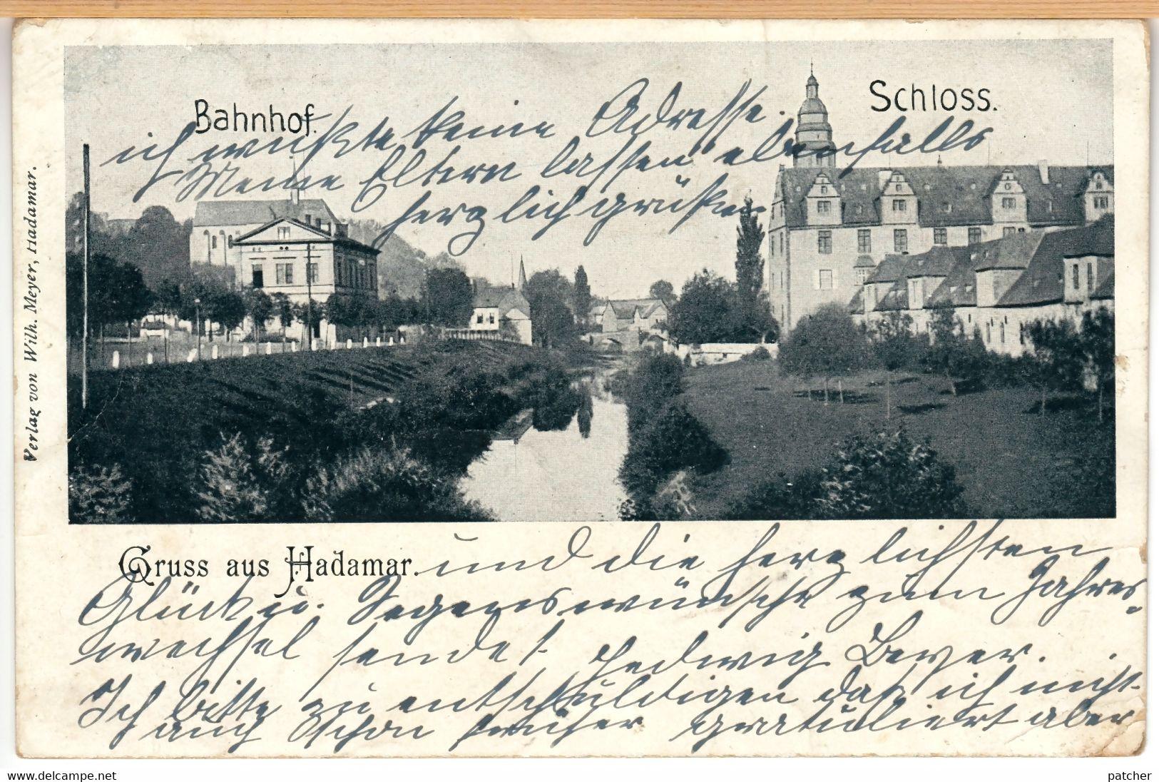 Hadamar (Limburg) Bahnhof Und Schloss, 1901 - Hadamar