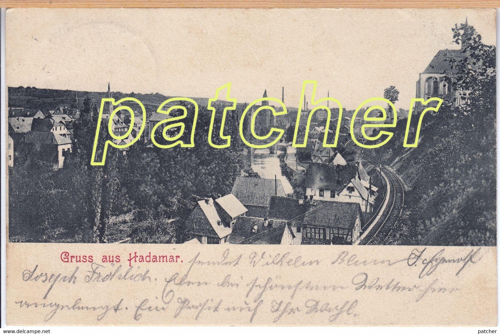 Hadamar (Limburg) Teilansicht Mit Eisenbahn, Bahnpost 1903 - Hadamar