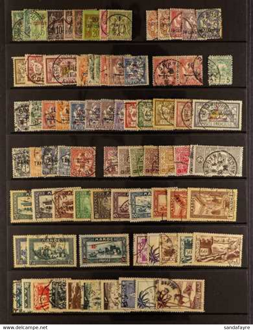MOROCCO  1891-1955 FINE USED COLLECTION Including 1891-1900 Surcharges On France To 1p, 1902-3 Values To 1p On 1f, 1914  - Unclassified