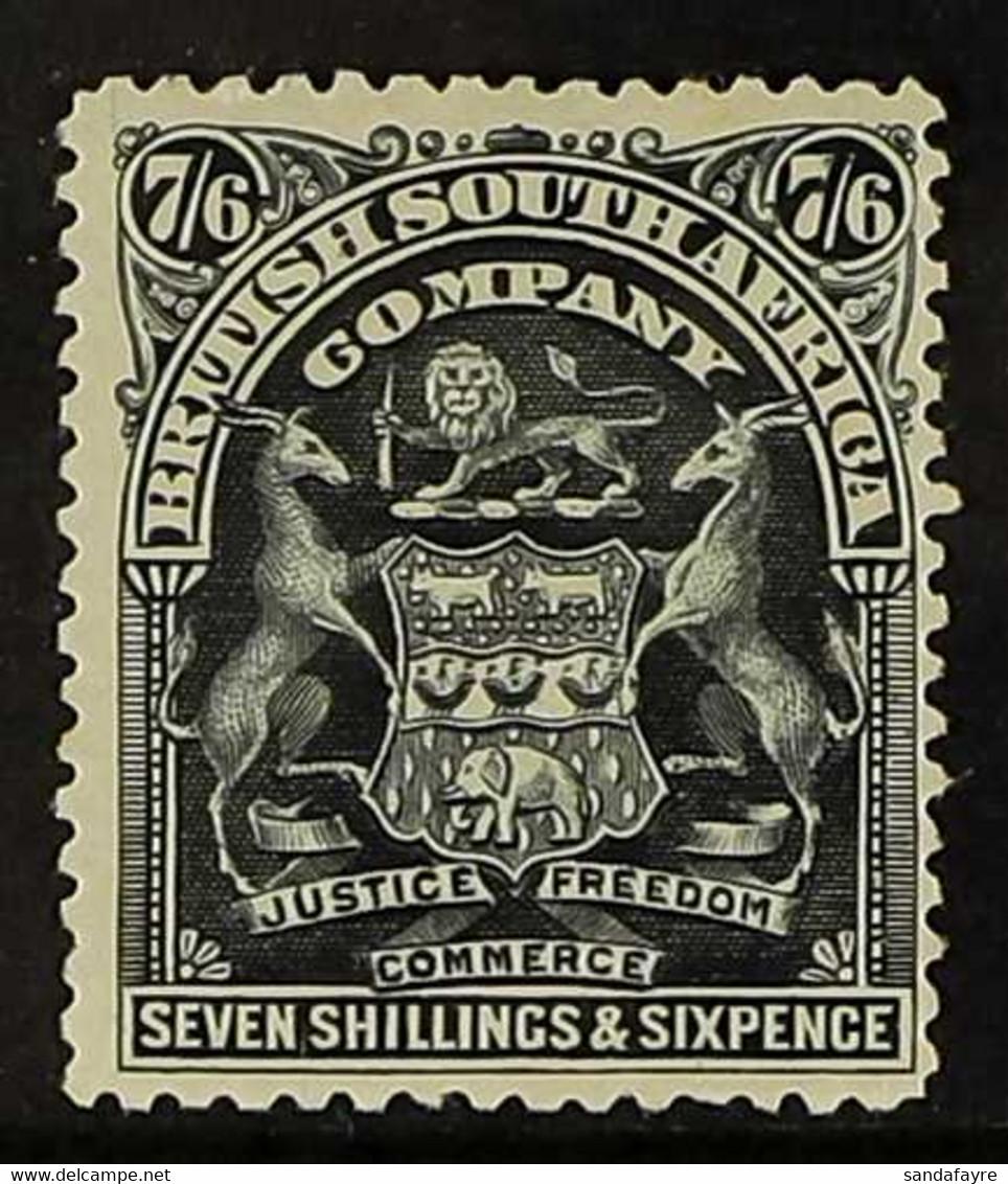 1898-1908  7s.6d Black Arms, SG 88, Fine Mint. For More Images, Please Visit Http://www.sandafayre.com/itemdetails.aspx? - Unclassified