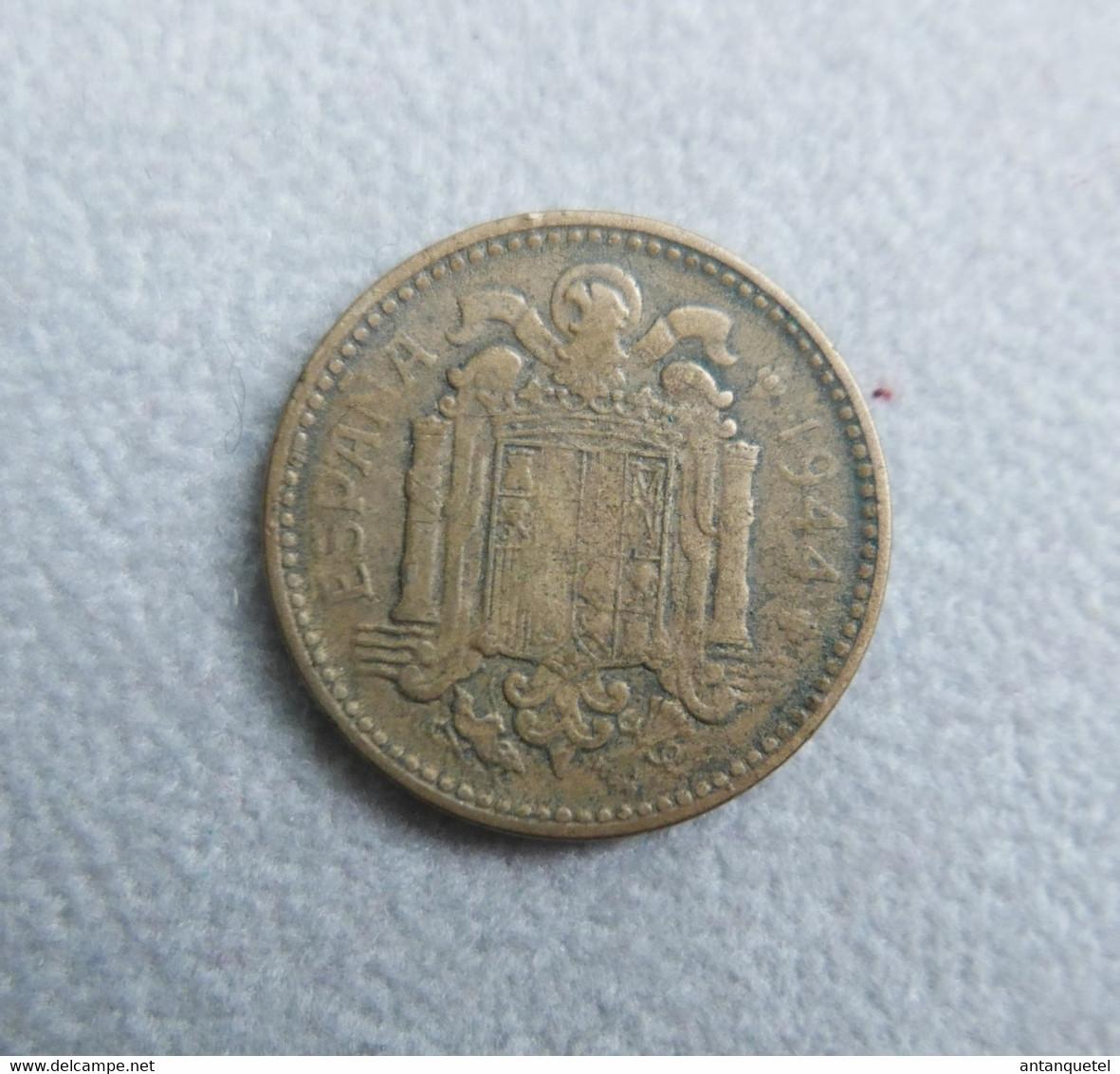 Monnaie D'Espagne—1 Peseta—Bronze—1944—Etat Moyen - 1 Peseta