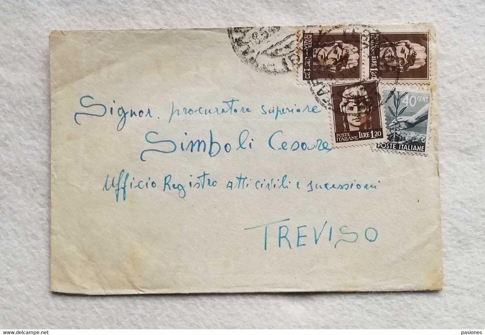 Busta Di Lettera Da Taranto Per Treviso 08/05/1946 - Marcofilía