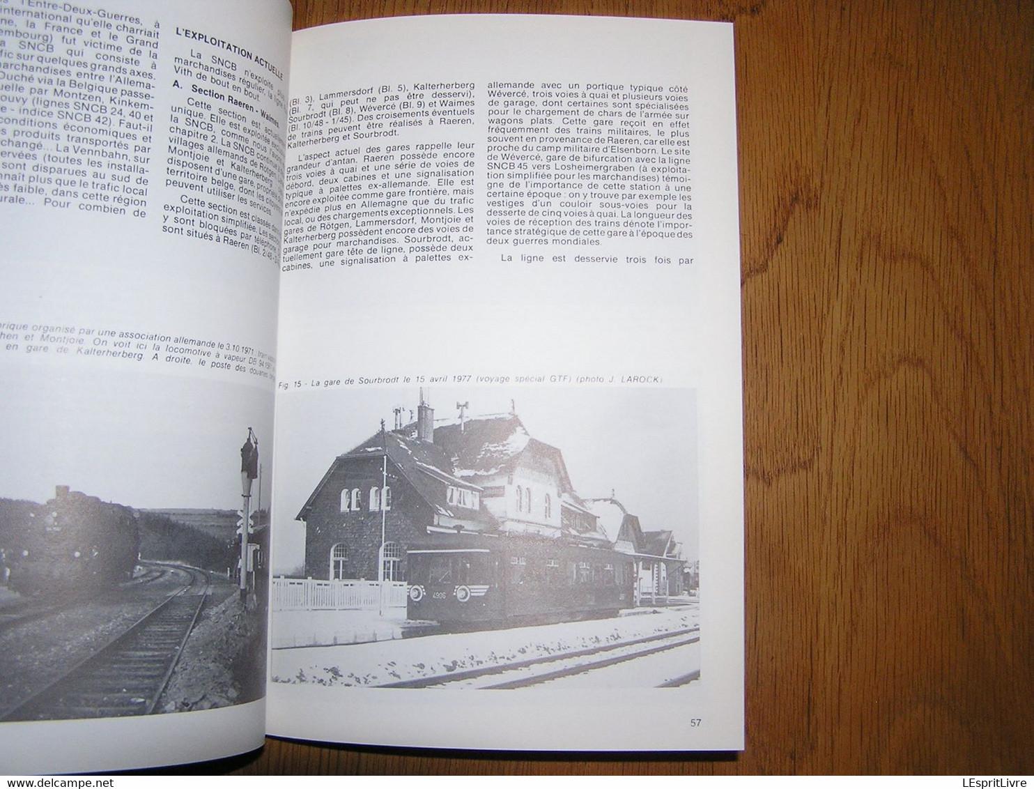 TRANS FER Spécial N° 3 Chemins De Fer SNCB Train Trolleybus Liège Vennbahn Raren Montenau Born Saint Vith Gorcy Signeulx - Ferrocarril & Tranvías
