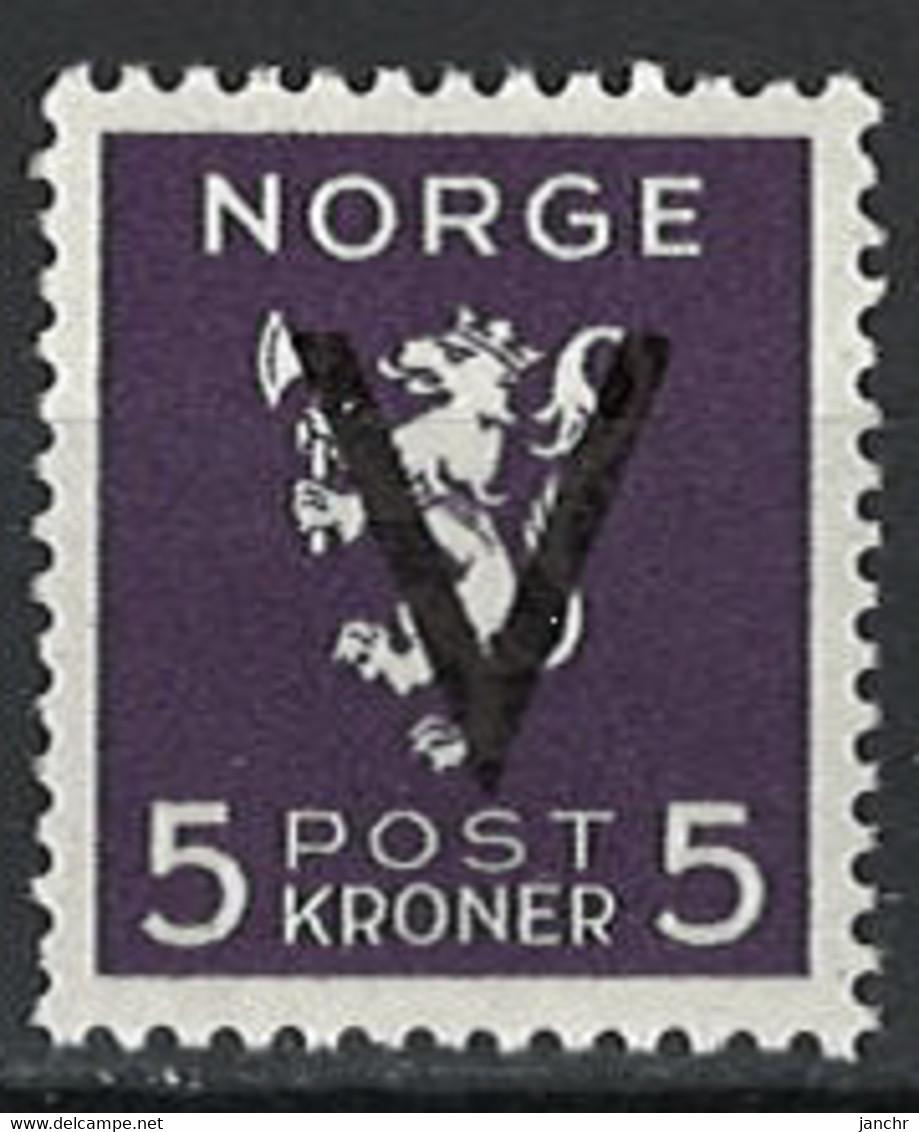 Norwegen Norway 1941. Mi.Nr. 256, Postfrisch **, MNH - Neufs
