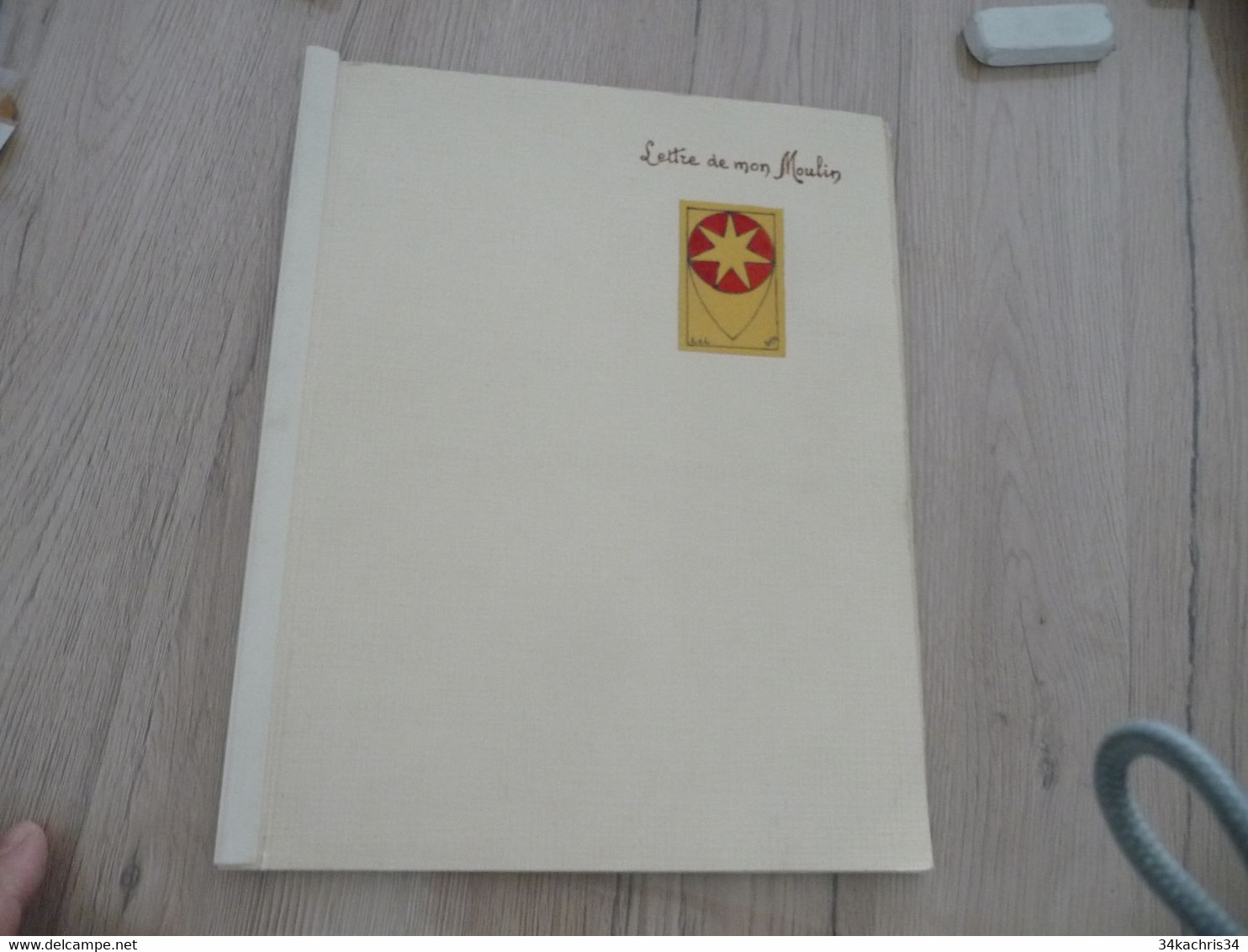 Occitan Félibre Mouvement Mistral Lettre De Mon Moulin Exemplaire Manuscrit Dédicace De L'auteur à Déchiffrer + Dessin - Poëzie