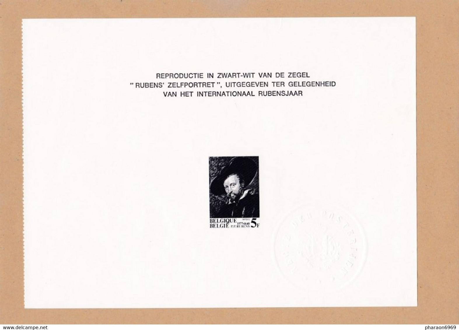 Feuillet Noir Et Blanc ZNP10 1860 Année Rubens - Zwarte/witte Blaadjes