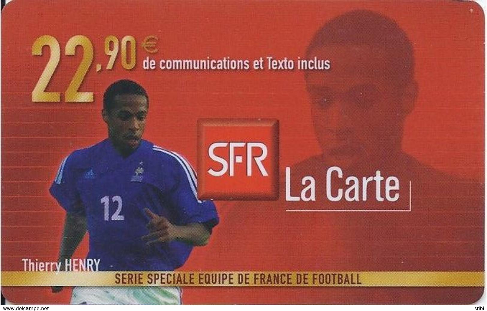FRANCE - FOOTBALL - THIERRY HENRY - Nachladekarten (Handy/SIM)