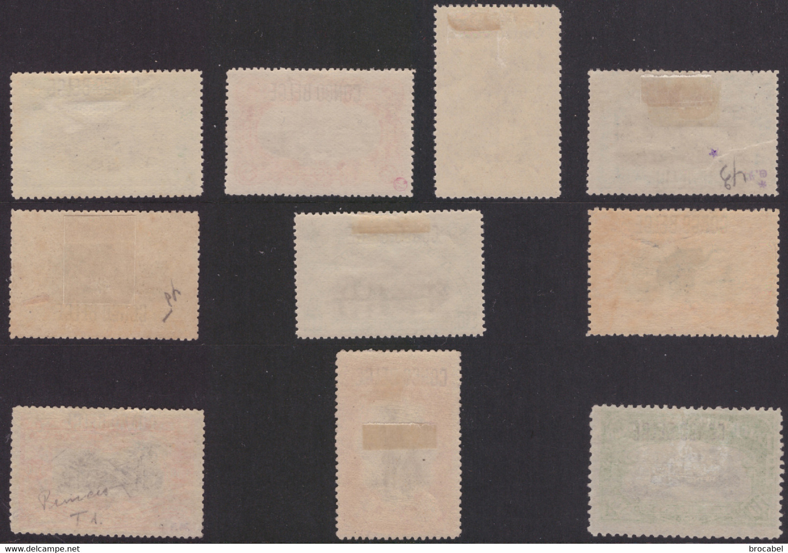 Congo 0040/49* Mols  H Surcharge Typo - 1894-1923 Mols: Mint/hinged
