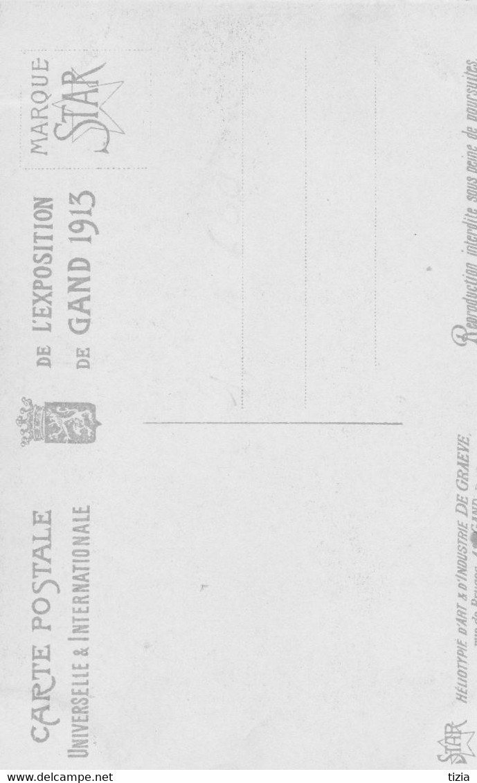 Expo Universelle  Gand 1913-   Section Française-Dioramas De La Classe 86Fête Masquée à Venise Au 18ème Siècle Scan - Gent