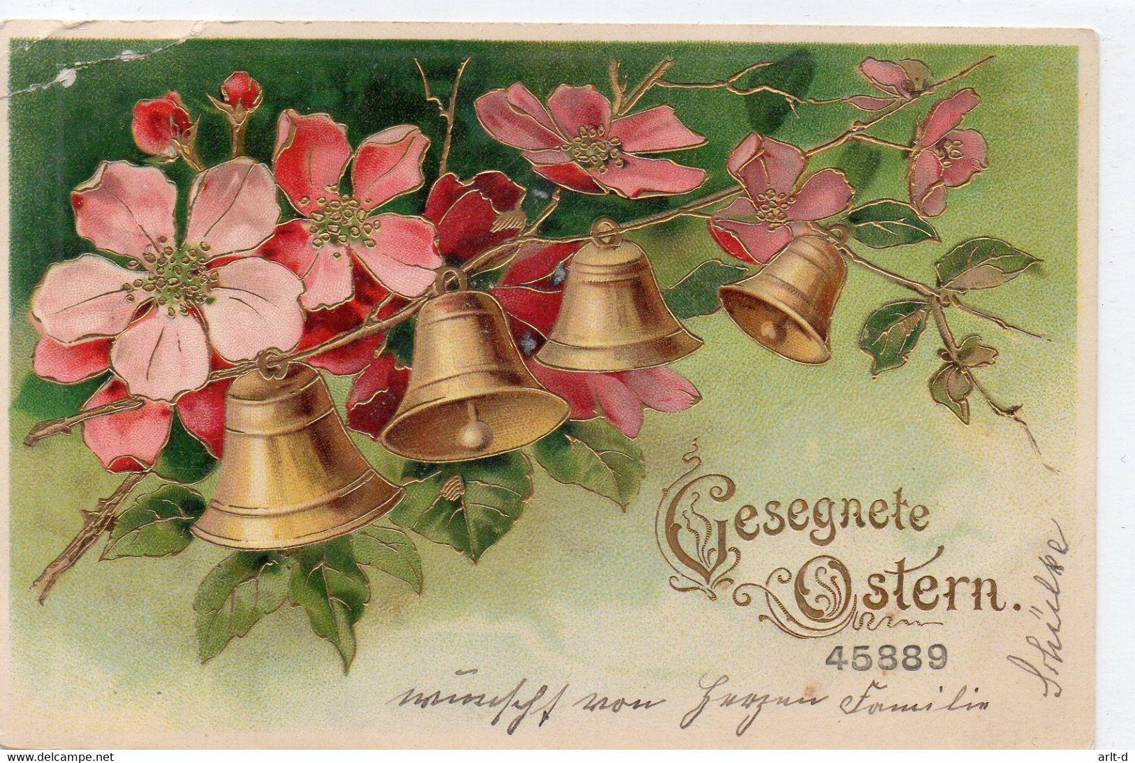 DC4657 - Gesegnete Ostern Glocken Gold - Pascua