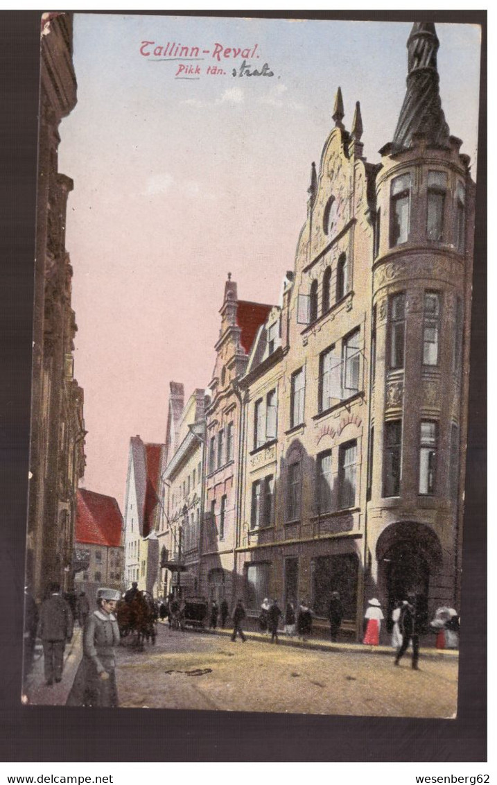 Reval Tallinn Pikk Tän 1925 Old Postcard - Estland