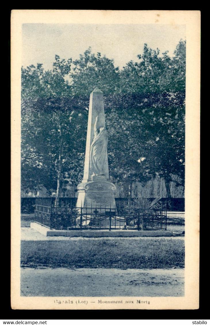 46 - CAZALS - LE MONUMENT AUX MORTS - Cazals