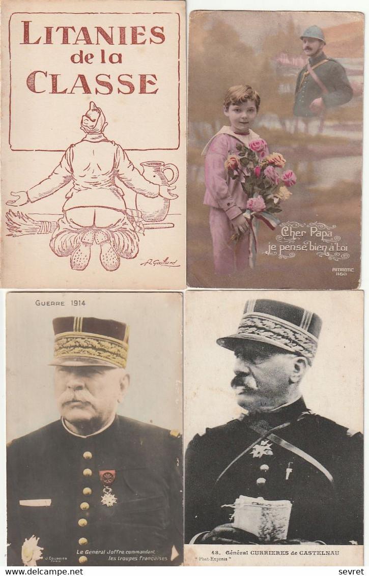 Lot De 200 CPA Et CPSM 9x14   -   Guerre 1914/1918 - .Ruines De Guerres, Patriotiques, Généraux Etc.. - 100 - 499 Postkaarten