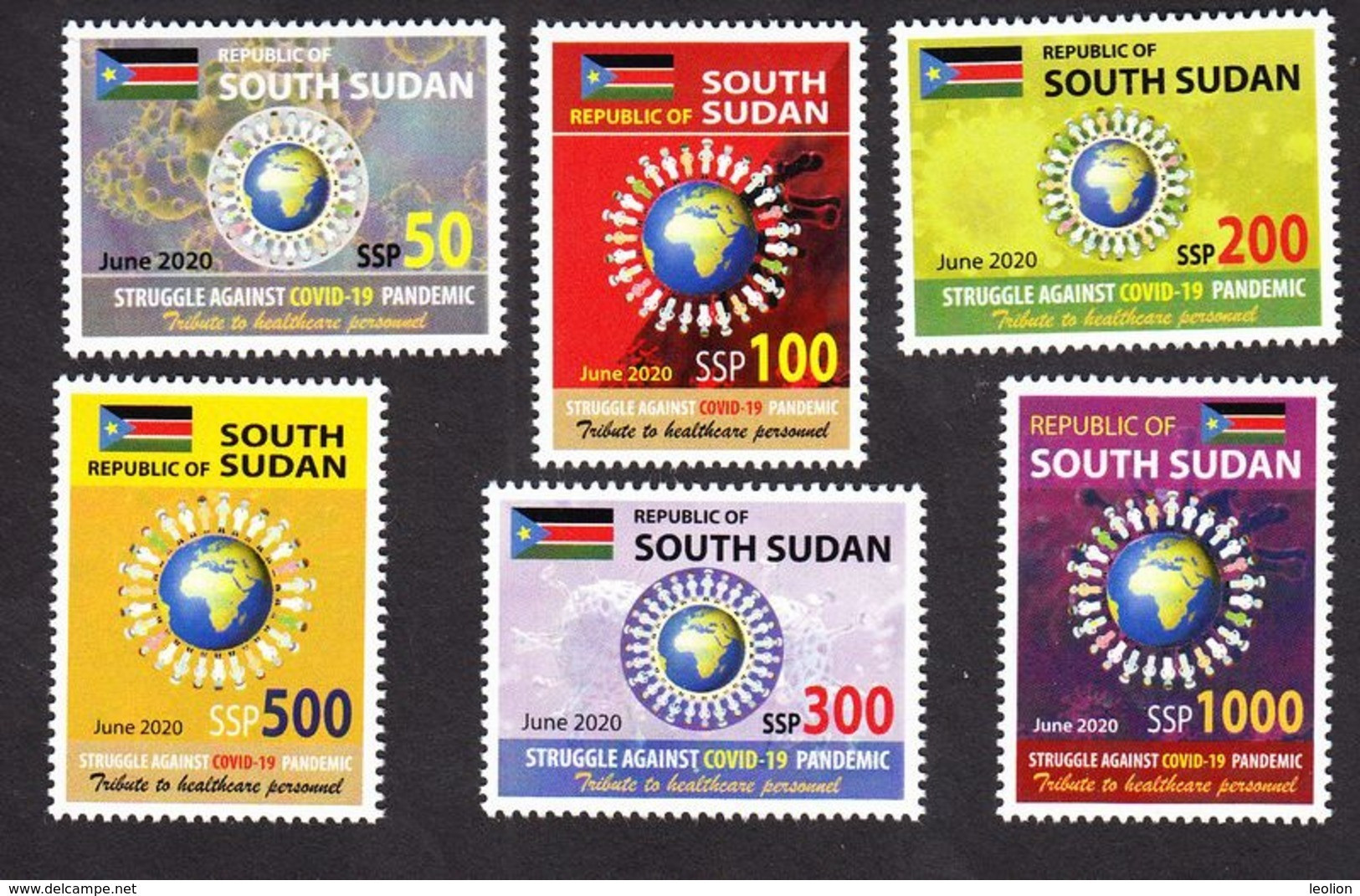 SOUTH SUDAN New 2020 Stamps Issue Health Workers Fighting Covid-19 Pandemic SOUDAN Du Sud Südsudan - South Sudan