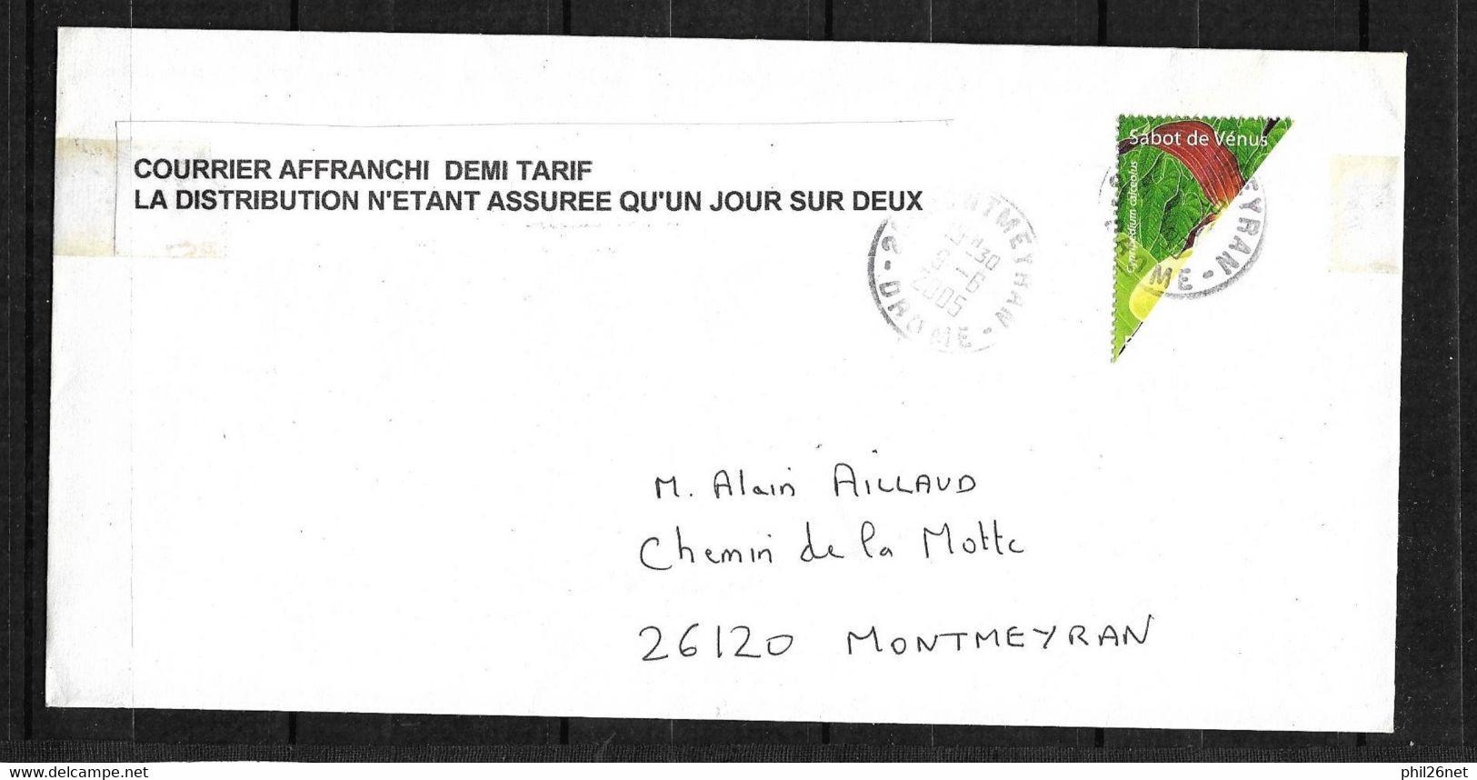 RRR Lettre Affranchie Avec La Moitié Du N° 3764 Circulée 9/6/2005 Avec ACCORD DE LA POSTE Unique Mise  à Prix 1 €uro ! ! - Curiosities: 2000-09 Covers & Documents