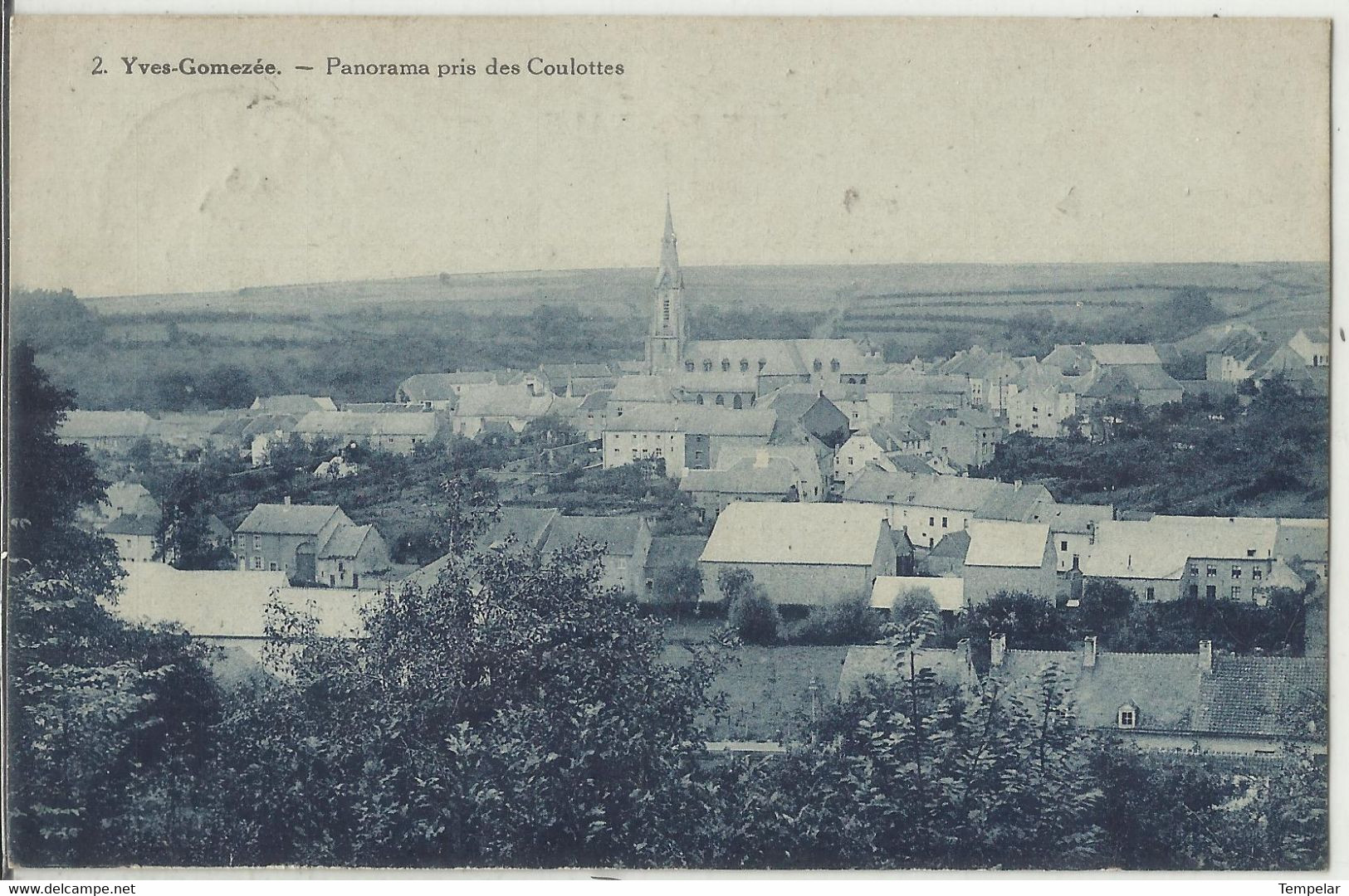 Yves-Gomezée - Panorama Pris Des Coulottes  1935 (Walcourt - Rare) - Walcourt