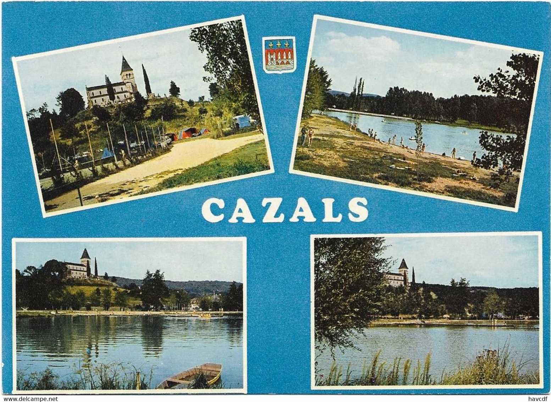 CPM - Editions Théojac - 4 - CAZALS - Le Plan D'eau Et Le Camping - Cazals