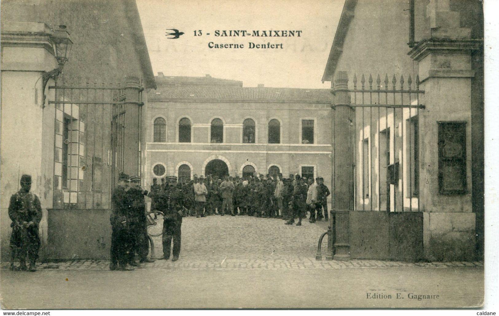- 79- DEUX-SEVRES -  SAINT-MAIXENT - Caserne Denfert - Barracks