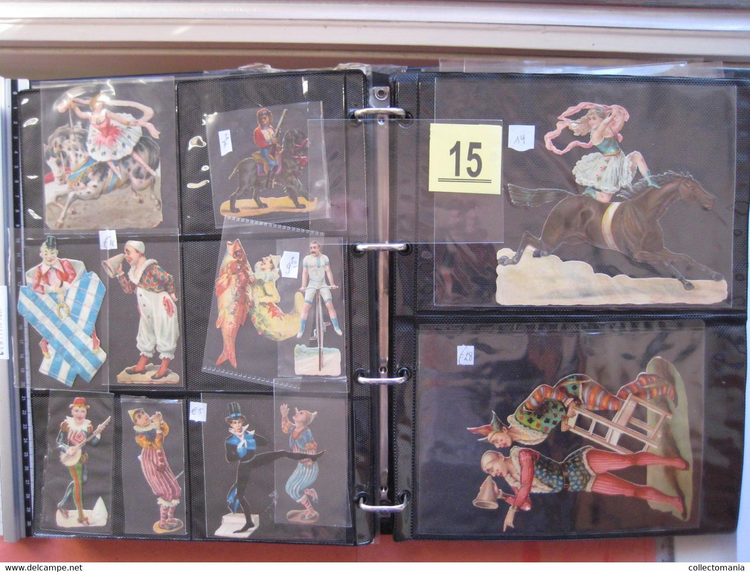 19th Century Each Chromo Photograped (count Yourself ) SCRAPS_MAP12_Cirkus Circus Clowns GLANS BILDER VG Collection - Animals