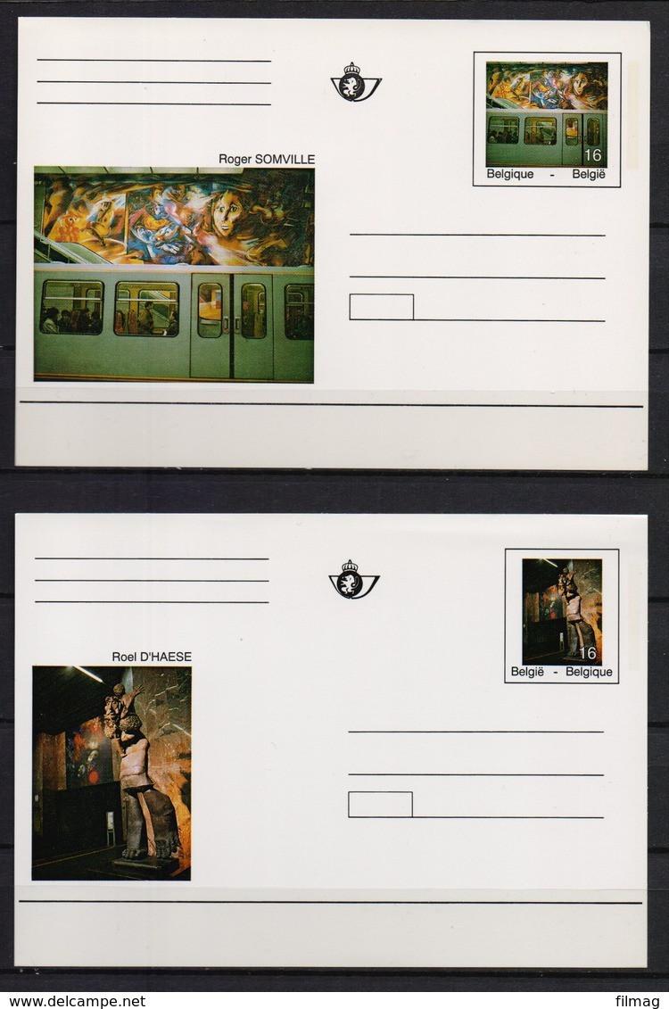 BK 46/47 BRIEFKAARTEN METRO POSTFRIS** 1994 CAT: 18 Euro - Postales [1951-..]