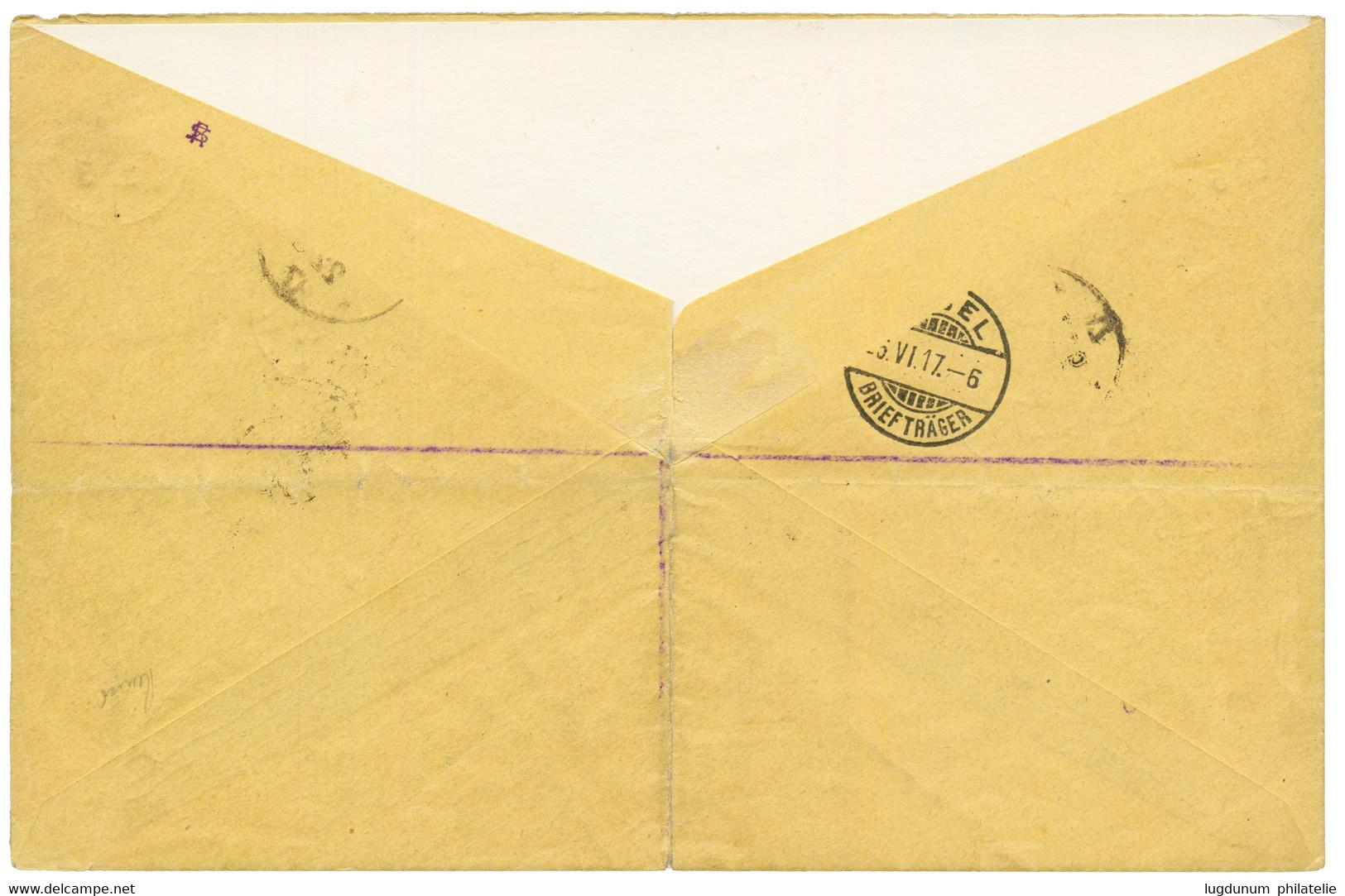 TOGO : 1917 10pf (n°34)x2 + 40pf (n°38) + N°84+ N°85+ N°96 Obl. Cachet Allemand ANECHO TOGO Sur Enveloppe RECOMMANDEE Po - Sin Clasificación