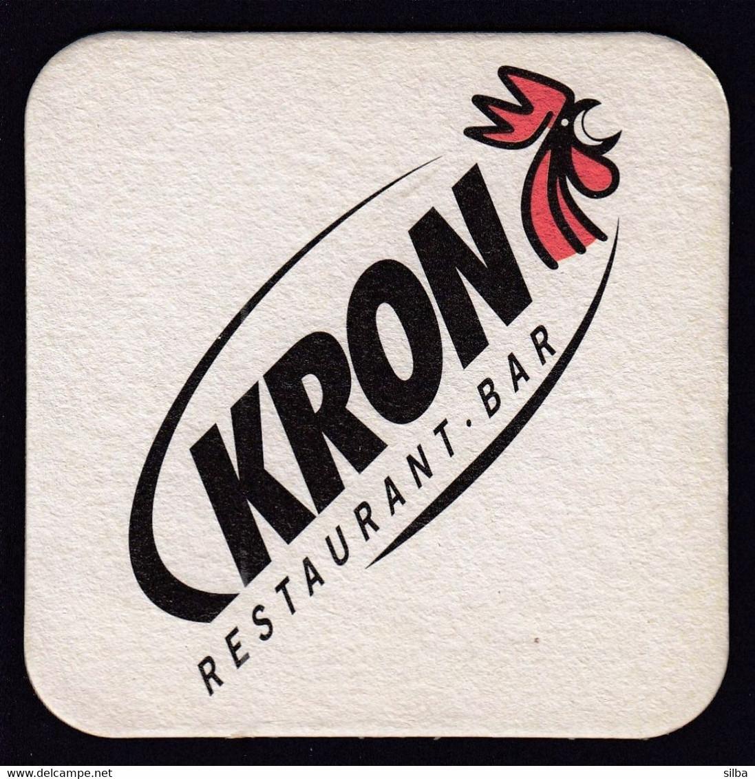 Beer Mats / Forst, Italy / Kron Restaurant Bar / Rooster / Bier / Coaster, Mat - Portavasos