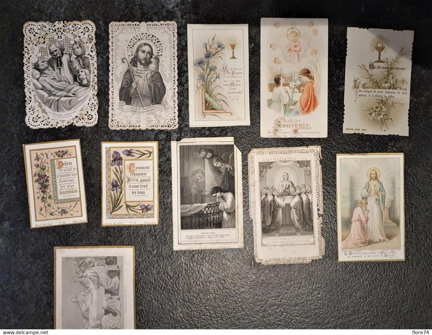 Lot De 11 Images Religieuses XIXè Siècle - Images Religieuses