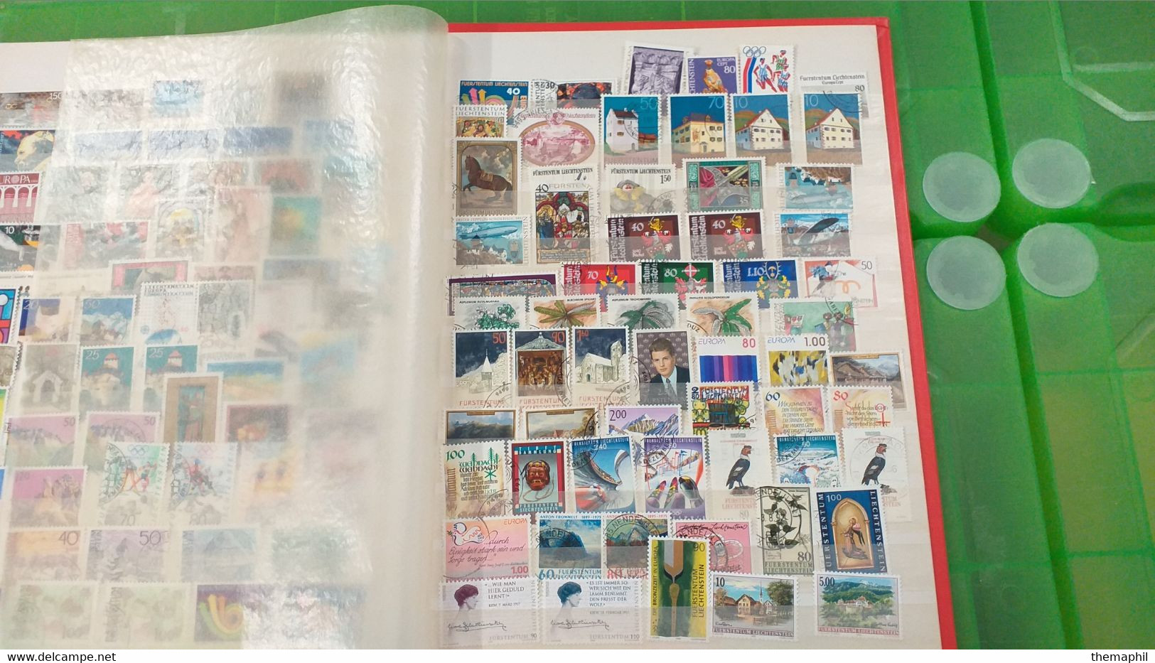 Lot N° TH 687  LUXEMBOURG , LIECHENSTEIN Un Bon Classeur De Timbres Neufs Ou Obl. - Collections (with Albums)