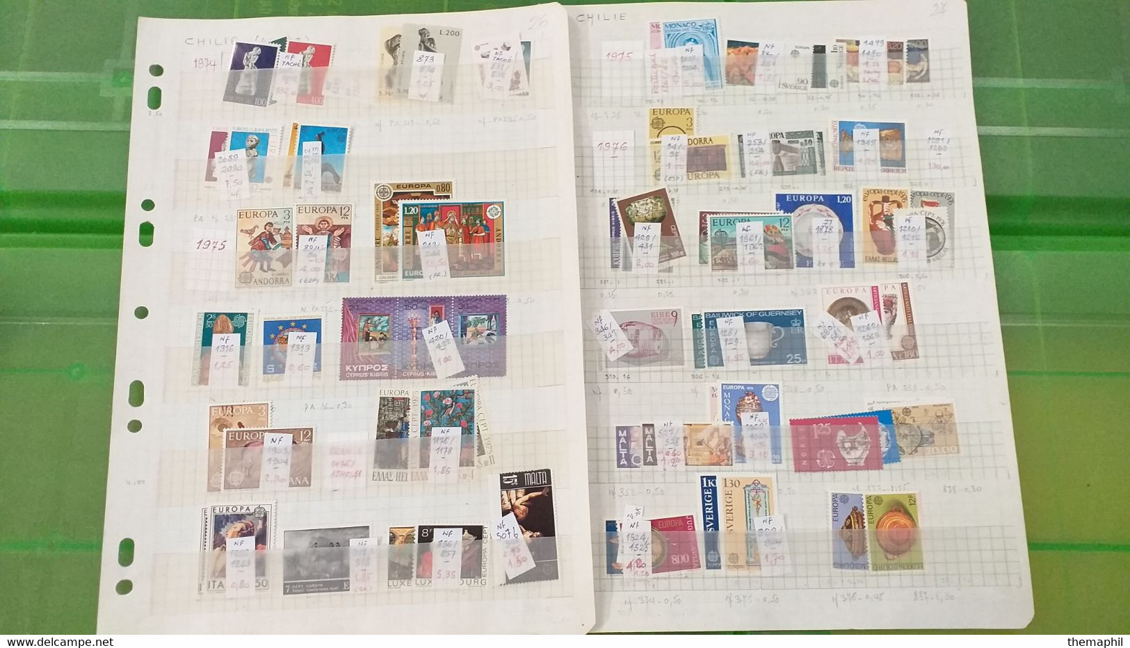 Lot N° TH 666 EUROPA Un Bon Lot De Timbres Neufs Xx - Collections (with Albums)