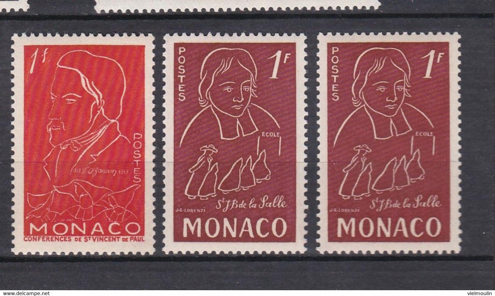 TIMBRES MONACO  OZANAM DU N° 399 A 402  PM - Unclassified
