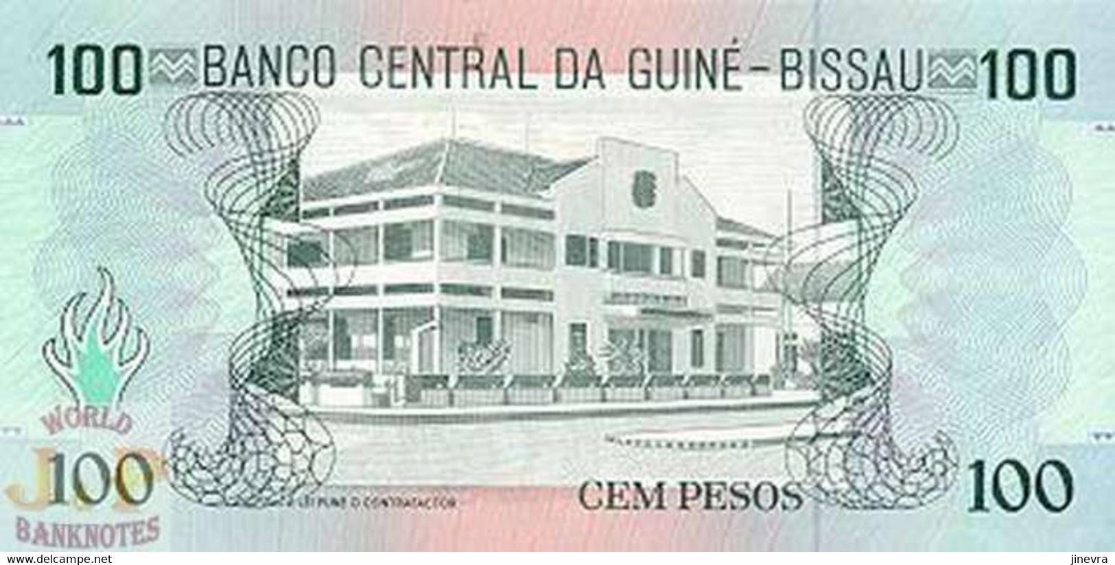GUINEA BISSAU 100 PESOS 1990 PICK 11 UNC - Guinea–Bissau