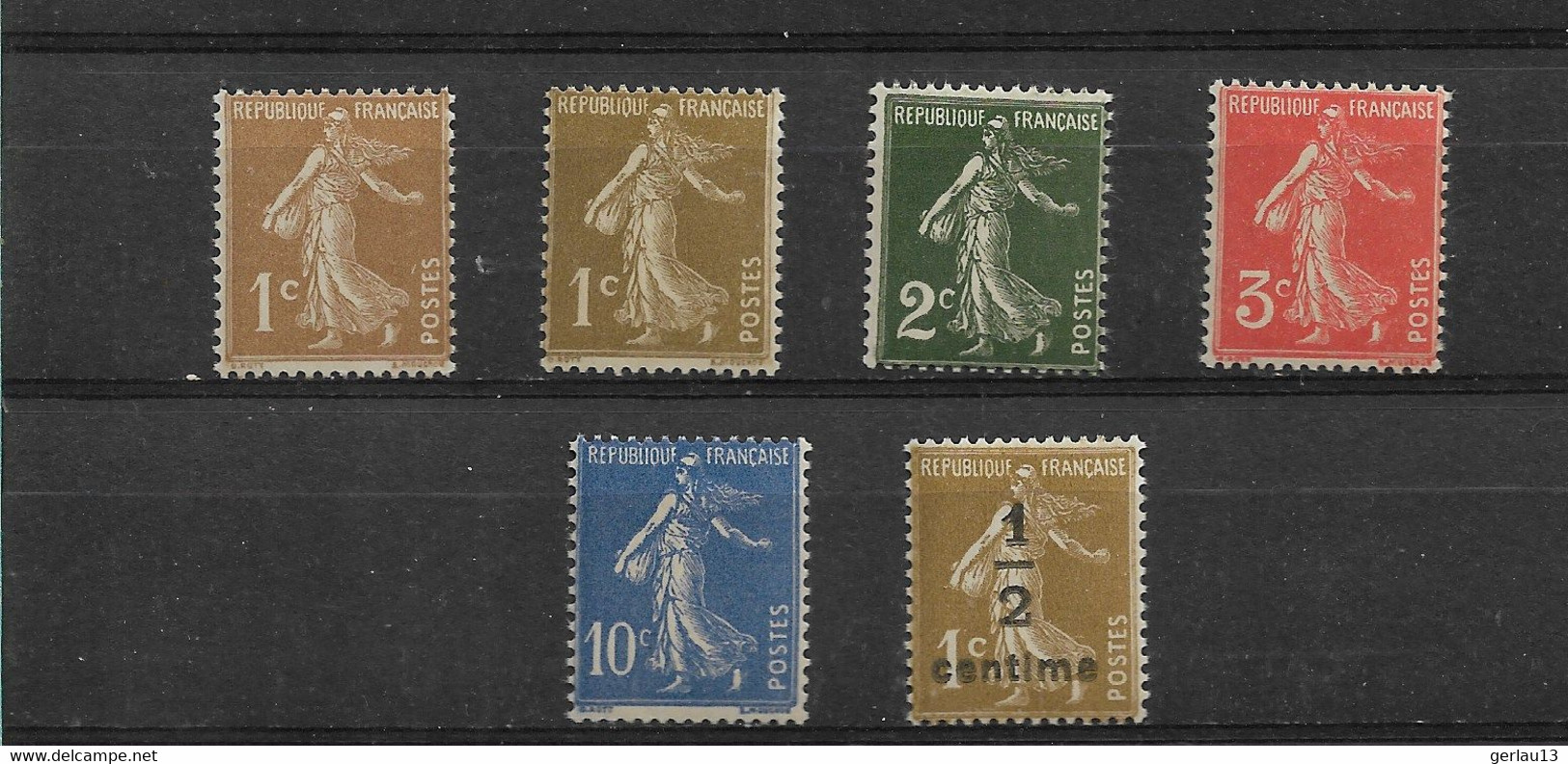 FRANCE   N° 277A/279A  **     NEUFS SANS CHARNIERE    MANQUE  278A  ET  279B - 1906-38 Semeuse Camée