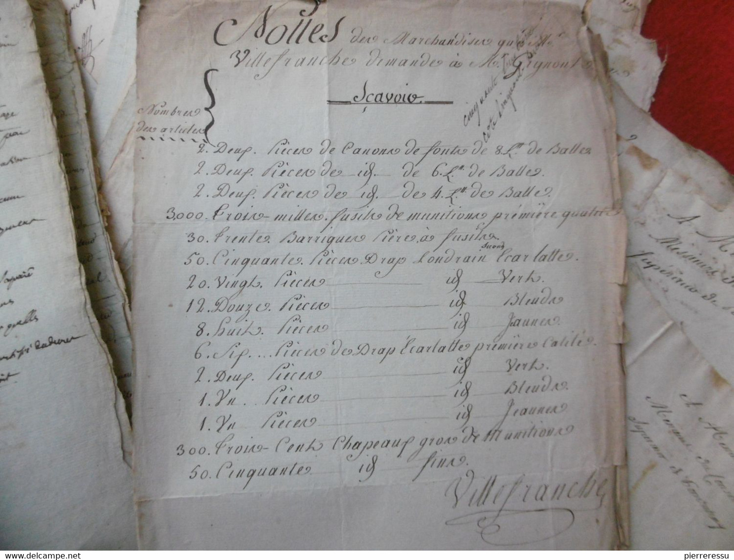 ESCLAVES NOIRS ARCHIVE GIGNOT ISLE DE FRANCE 1793 PONDICHERY MARINE AUTOGRAPHE NAVIRE BATEAU - Historical Documents