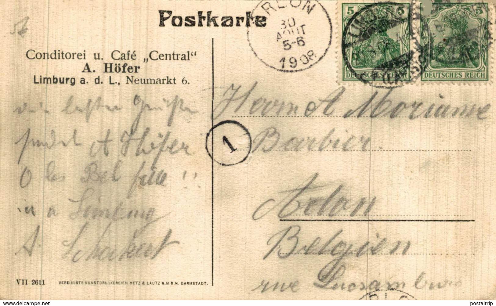 LIMBURG A.D. LAHN. BARFÜSSERKIRCHE U. BISCHÖFL. PALAIS. ALEMANIA GERMANY DEUTSCHLAND - Sin Clasificación