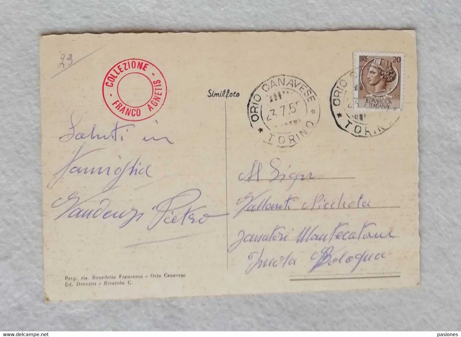Cartolina Illustrata Orio Canavese - Preventorio Infantile, Viaggiata Per Montecatone Imola 1955 - Otras Ciudades