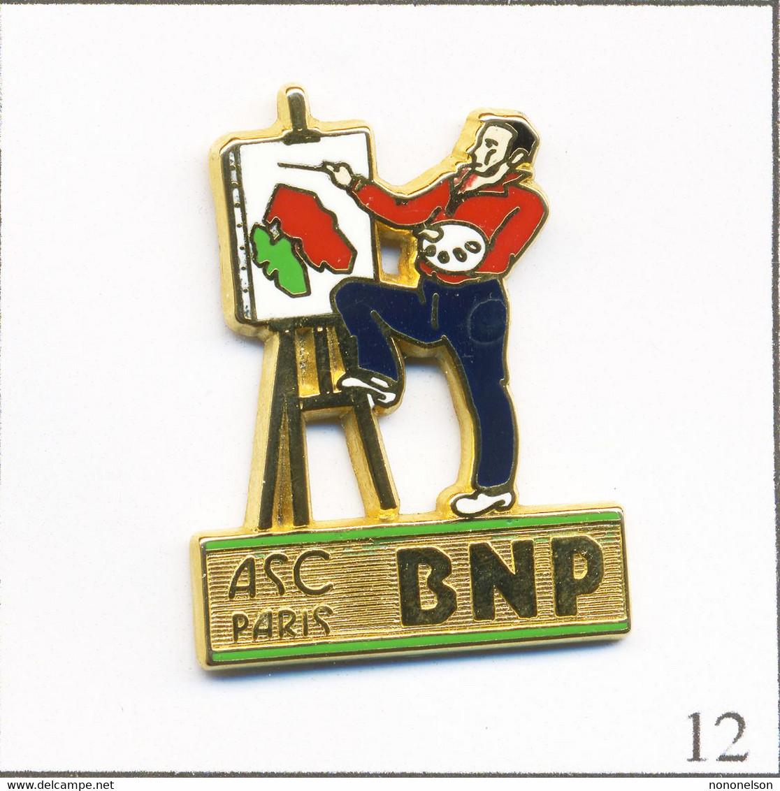Pin's Banque / Assurance - BNP / ASC Paris - Peinture. Estampillé Ballard. Zamac. T738-12 - Banche