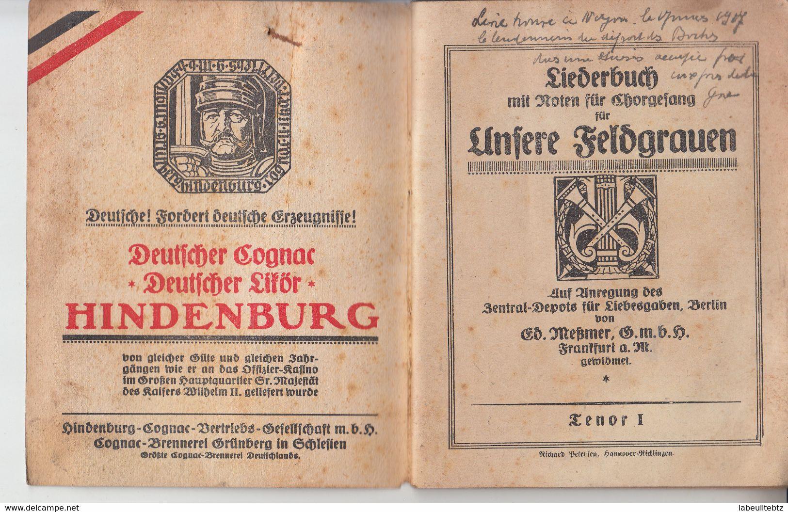 Deutsche Wacht - Liederbuch Für Chorgesang - Musique Chant Chorale ( Provenance Noyon )  PRIX FIXE - Theatre & Scripts