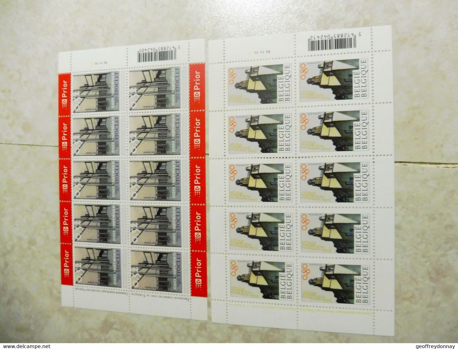 Belgique Belgie Kleine Blad Petite Feuille Numero 3629/3630 ( Année 2007 ) Planche 2 - Hojas Completas